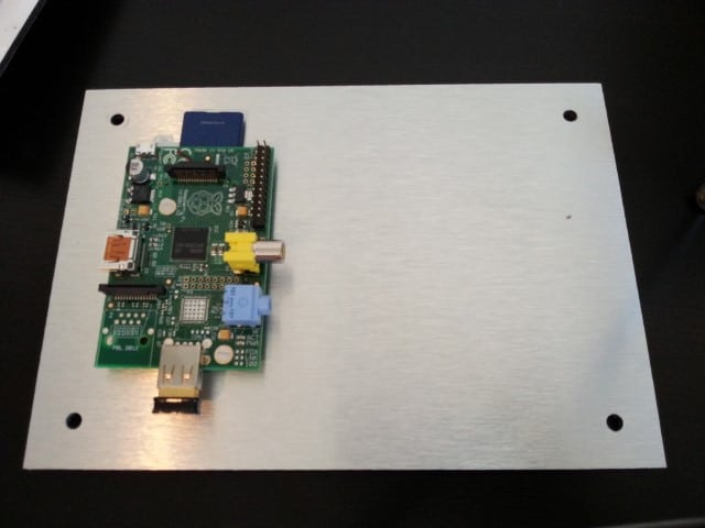 Raspberry Pi mounted