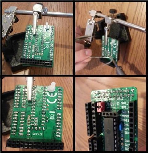 Slice of PiO soldering 4-pin headers