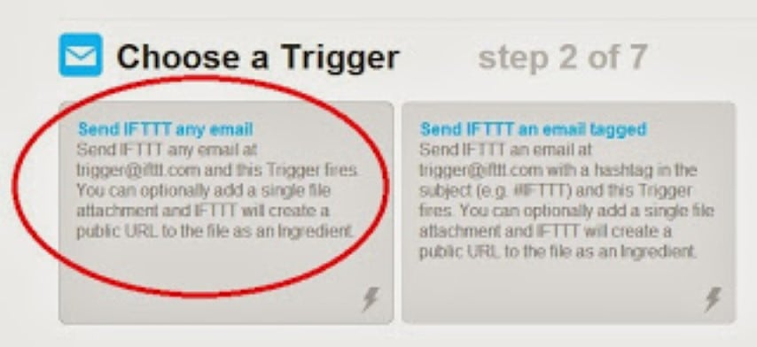 IFTTT choose trigger
