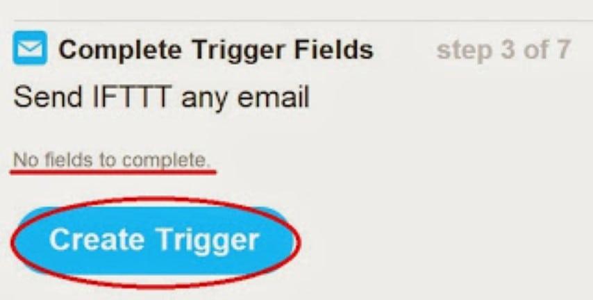 IFTTT complete trigger