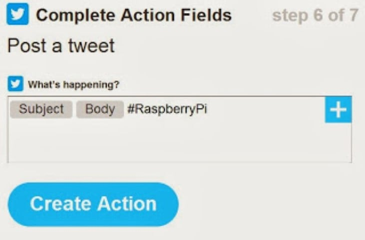 IFTTT create action