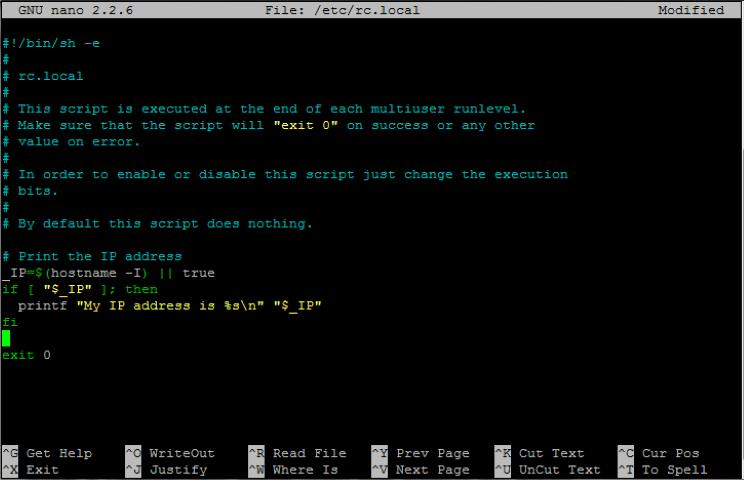 Raspberry Pi Terminal