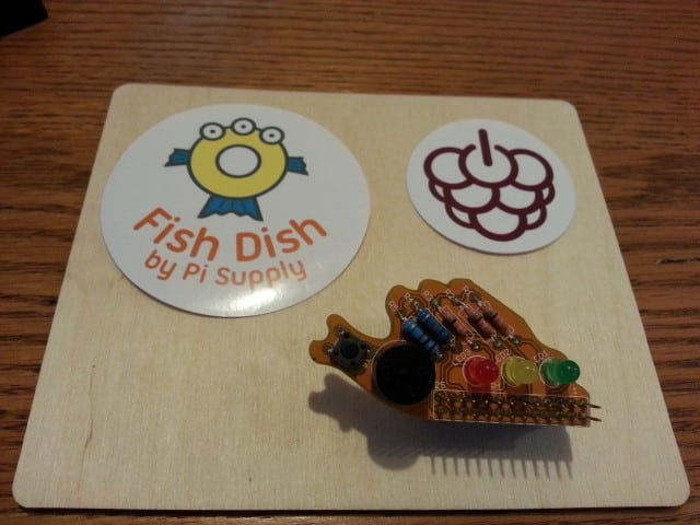 Completed Fish Dish Raspberry Pi board