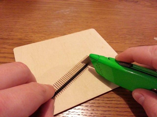 Cutting a male header