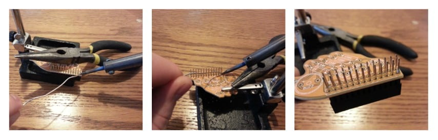 Fish Dish solder GPIO step 2