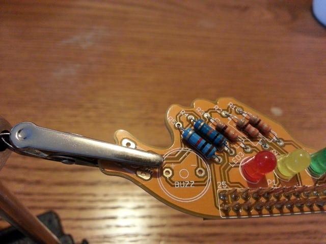 Fish Dish solder buzzer step 2