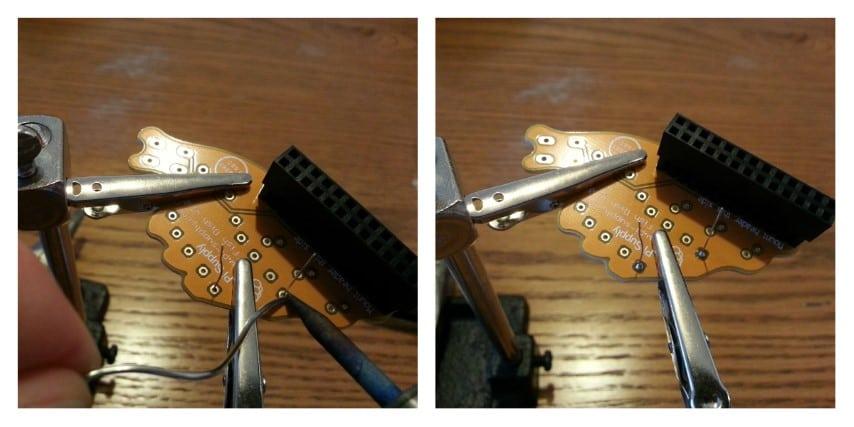 Fish Dish solder resistors step 2