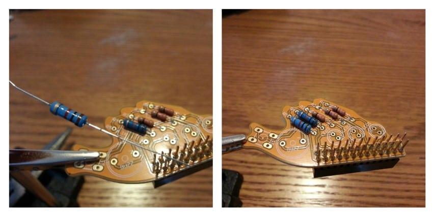Fish Dish solder resistors step 5
