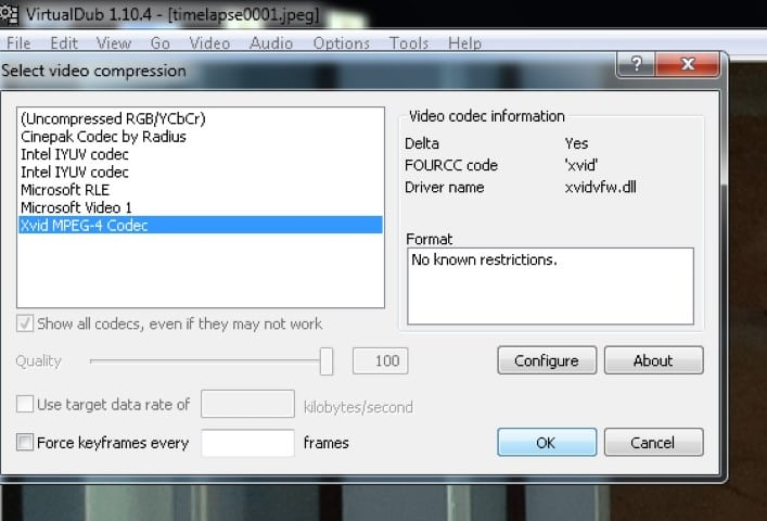 VirtualDub Compression