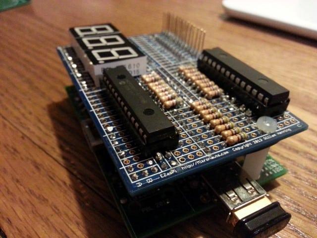 MCP23017 EZasPi prototype