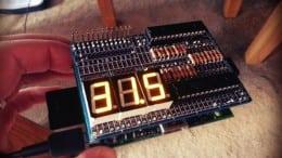 Raspberry Pi Seven Segment Temperature Monitor
