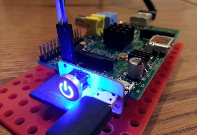 Illuminated Raspberry Pi Switch