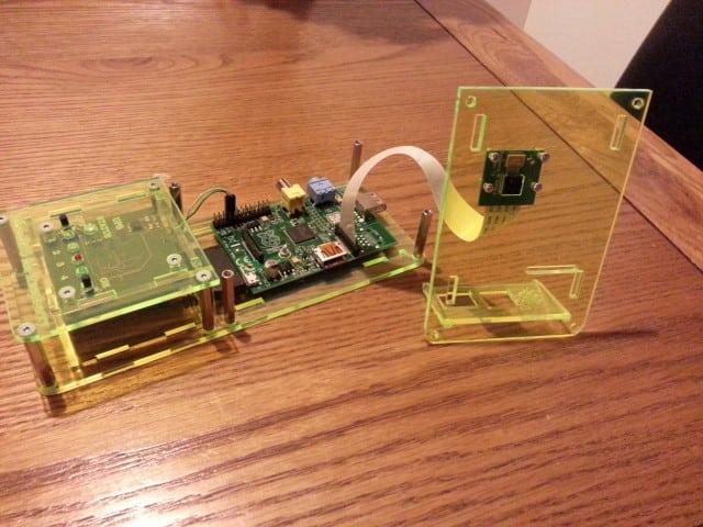 MicroUPS Raspberry Pi camera mount panel
