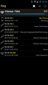 Fing IP addresses