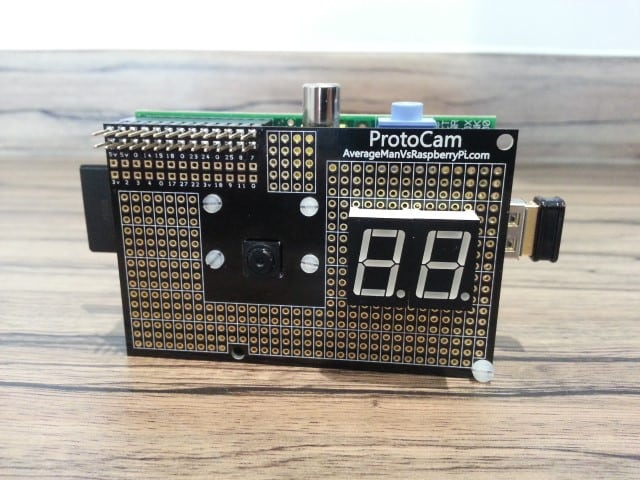 ProtoCam seven segment display example