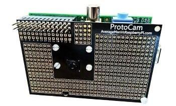 ProtoCam Raspberry Pi prototyping board