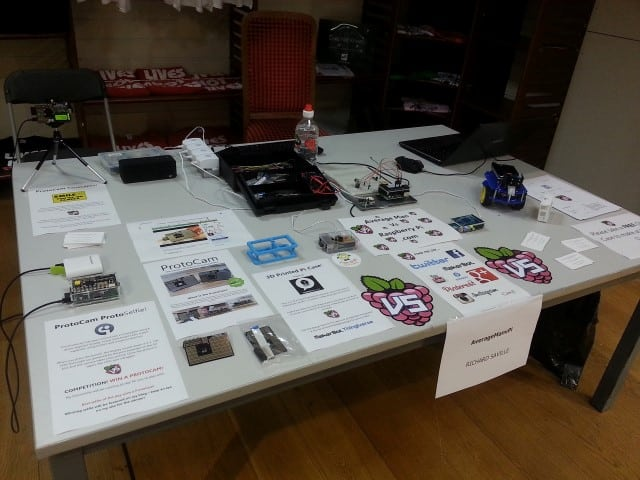 Table at the Croydon Raspberry Jam