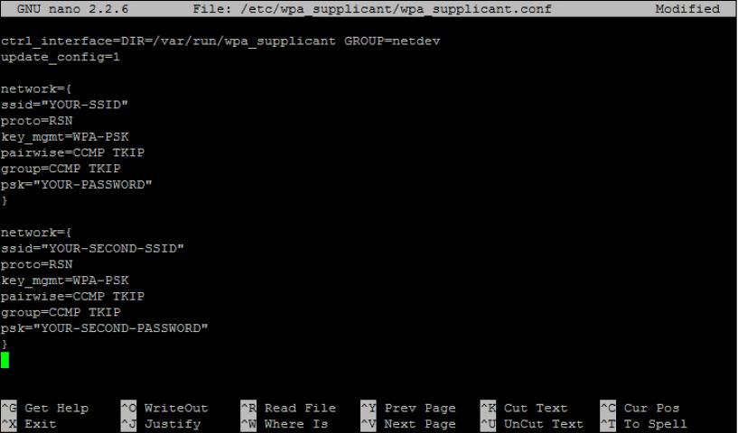 Raspberry Pi SSID File