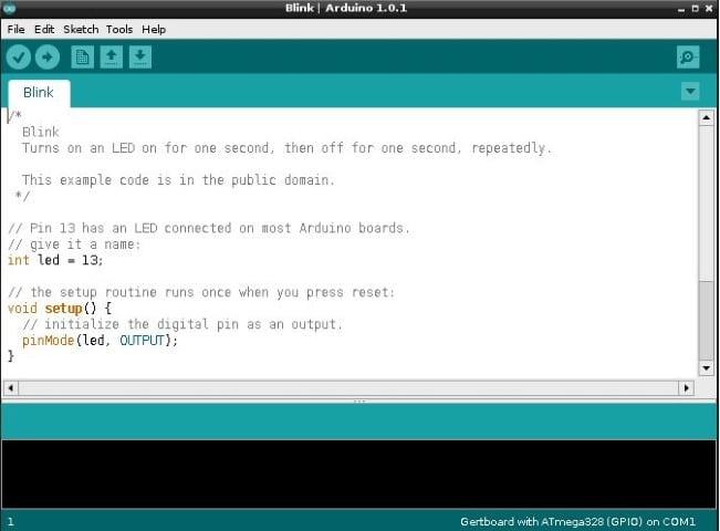 Arduino IDE Blink Sketch