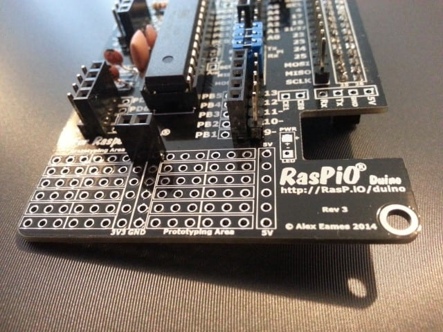 RasPiO Duino Prototyping Area