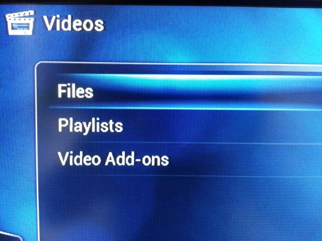 RaspBMC Video files option