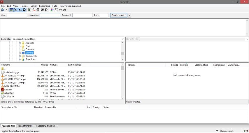 Filezilla Raspberry Pi File Transfer