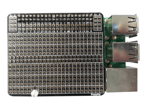 Front of the ProtoPal on a B+ Raspberry Pi