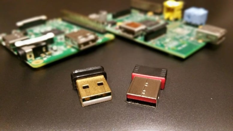Two USB WiFi adapters for the Raspberry Pi