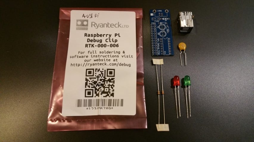 Raspberry Pi Debug Clip parts