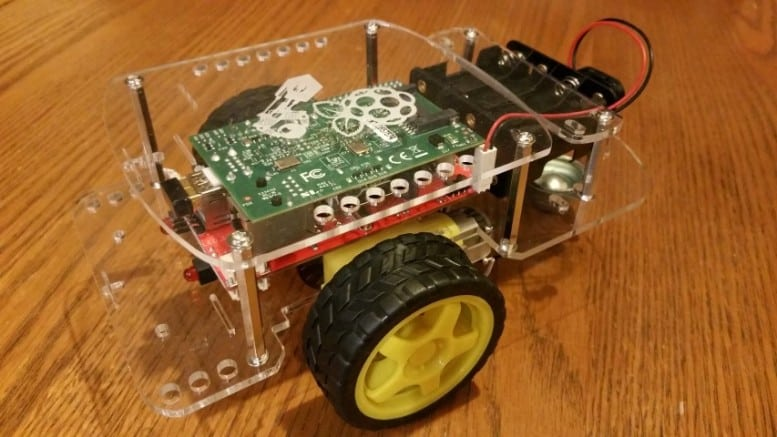 Assembled GoPiGo Raspberry Pi Robot Car