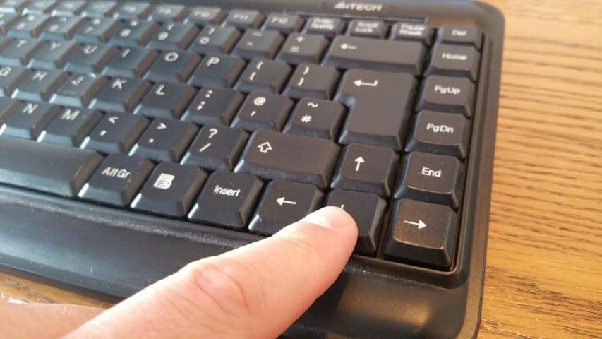 Standard keyboard for a Raspberry Pi media centre