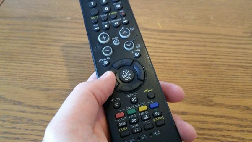 TV remote controlling a Raspberry Pi XBMC media centre