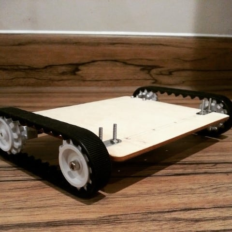 Home-made Raspberry Pi Robot chassis