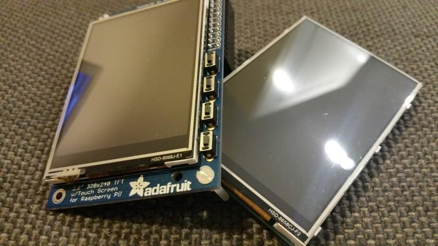 PiTFT and Neosec Raspberry Pi screens