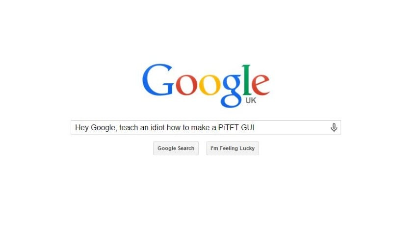 Google Search for PiTFT GUI