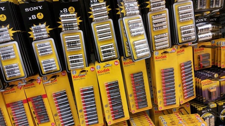 Pound shop batteries