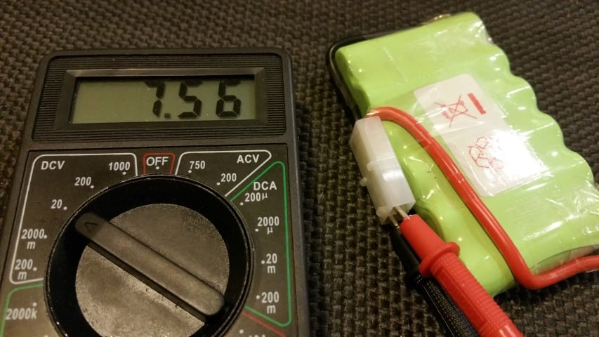 Multimeter battery test