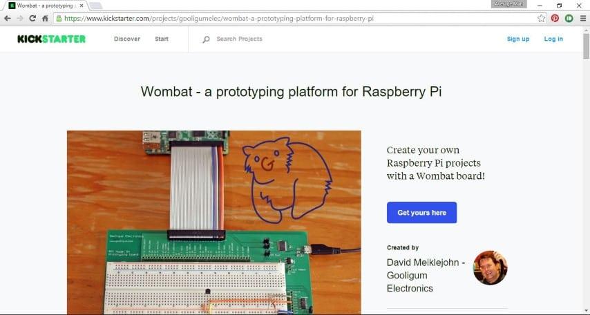 Wombat kickstarter campaign