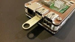 Raspberry Pi with USB stick