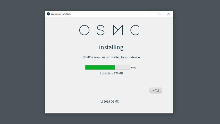 OSMC installer step 6