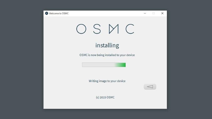 OSMC installer step 8