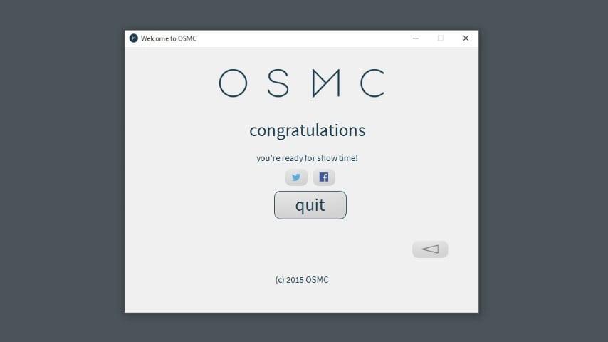 OSMC installer step 9