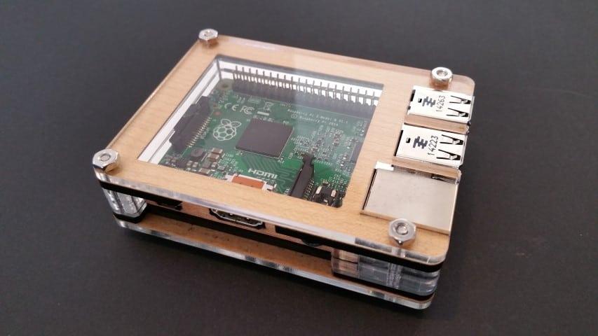The Zebra Walnut Raspberry Pi Case