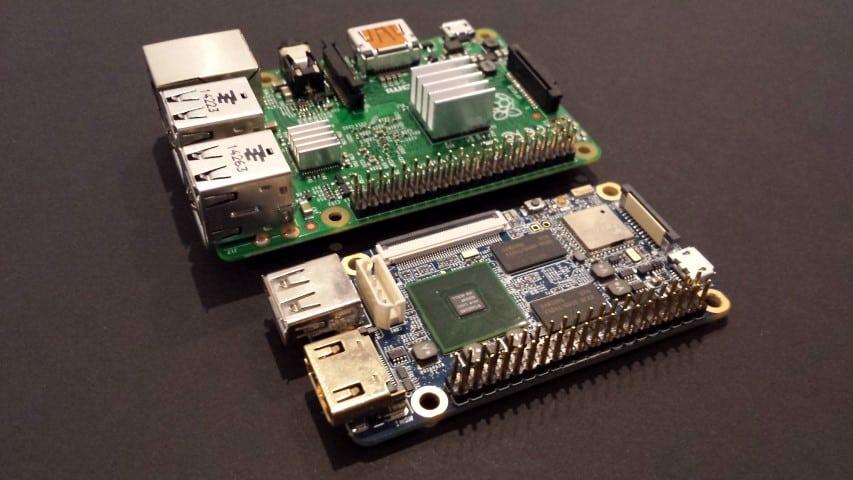 NanoPi2 and Raspberry Pi