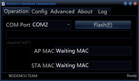 Node MCU Flasher tool