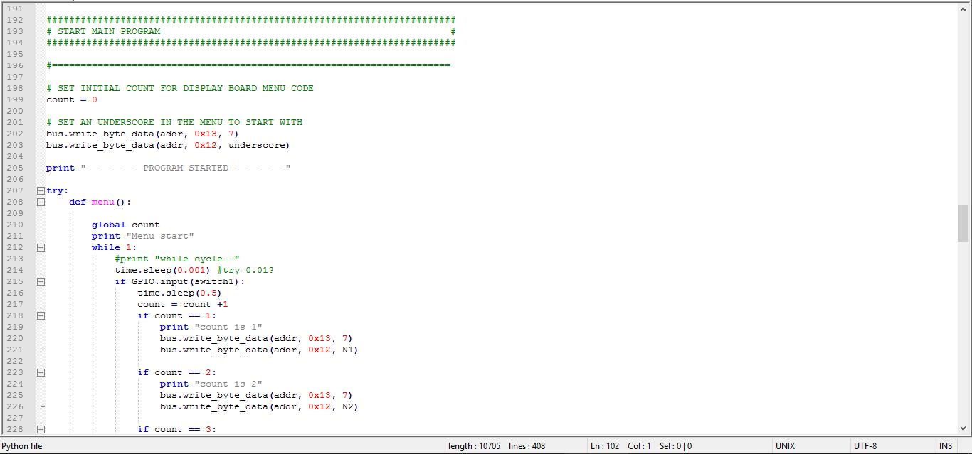 Python robot code