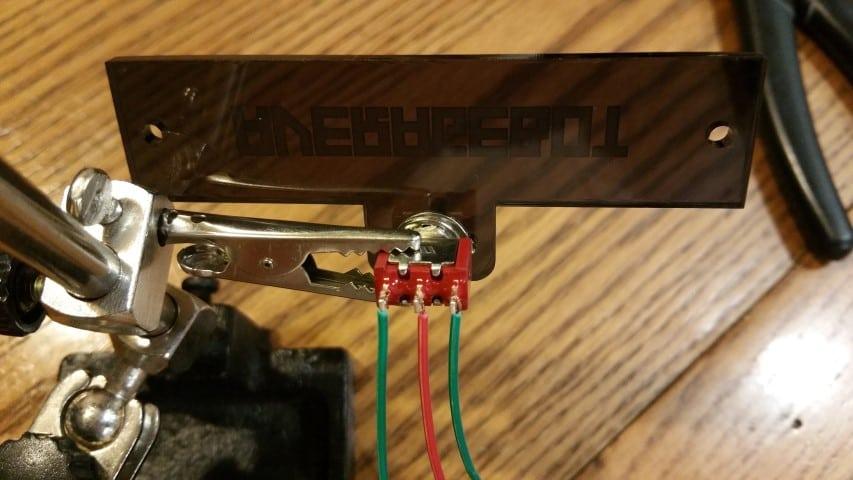 Soldering SPDT switch