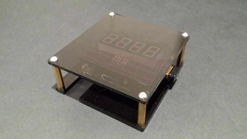 Raspbery Pi 7 segment display casing