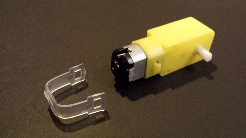 Yellow motor rubber clip