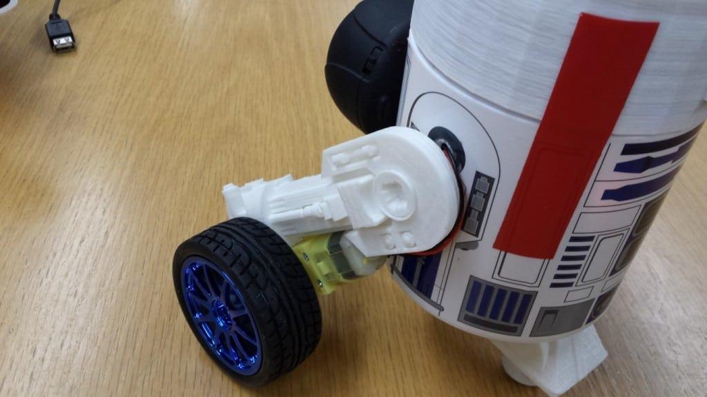 R2DPi 3D printed legs